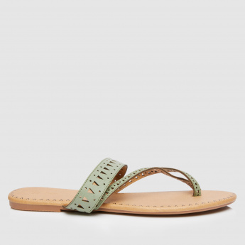 Flat Sandals with Laser Cutwork