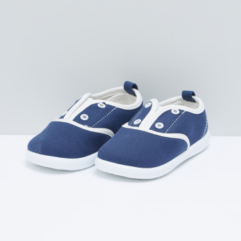 Slip-On Shoes with Eyelet Detail
