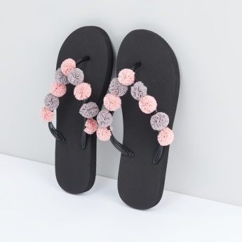 Applique Detail Flip Flops