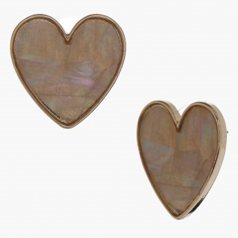 Heart Shaped Earrings with Push Back Closure
