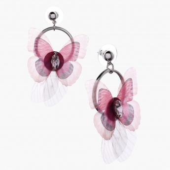 Dangling Earrings with Push Back Closure