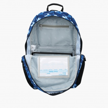 Printed Backpack with Dual Compartments