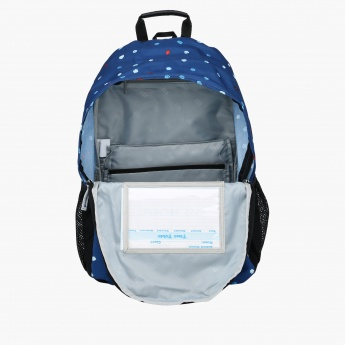 Printed Dual Compartment Backpack