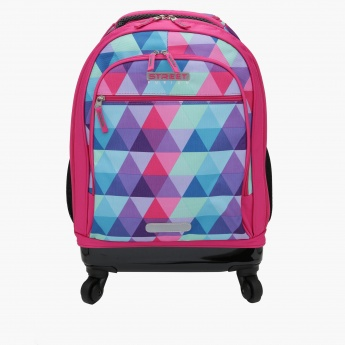 Printed Trolley Backpack