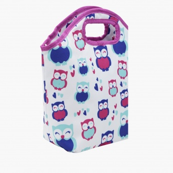 Owl Printed Lunch Bag - 31x11x31 cms