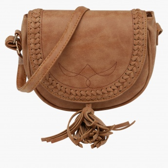 Satchel Bag with Tassels