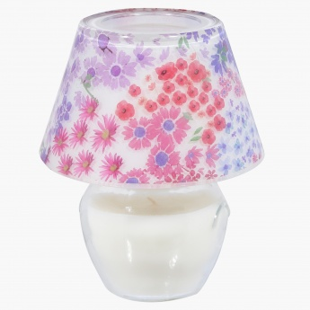 Floral Print Decorative Candle Jar