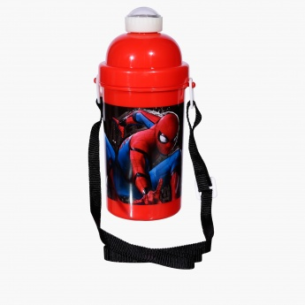 Spider-Man Printed Water Bottle with Flip Top Closure