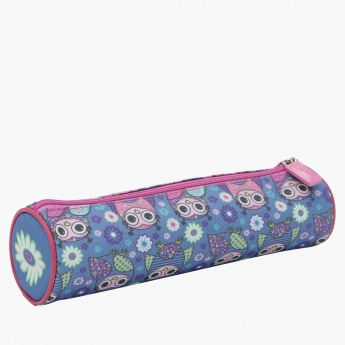 Printed Pencil Case with Zip Closure