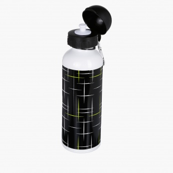Printed Water Bottle with Flip Top Cap
