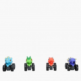 Dino 4-Piece Monster Wheels Truck Set