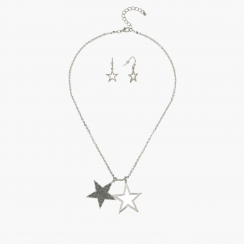 Star Necklace and Earrings Set