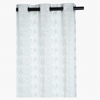 Textured Curtain with Tieback - Set of 2