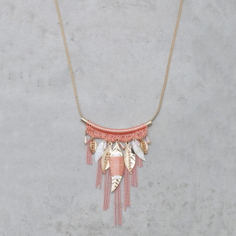 Fringed Embellished Necklace