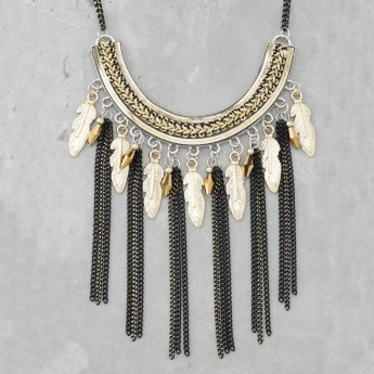 Beaded Fringed Necklace