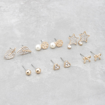 Embellished Earrings - Set of 6