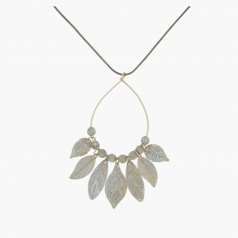 Leaf Necklace and Earrings Set