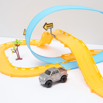 21-Piece Self Assemble Track Playset