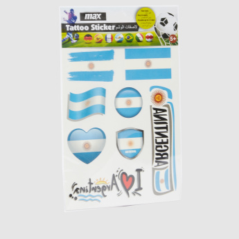 Argentina Flag Tattoo Sticker