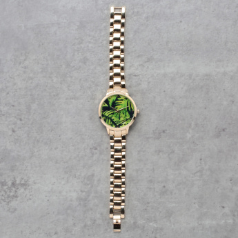 Metallic Round Wrist Watch
