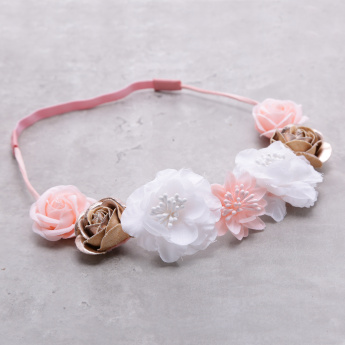 Hair Band with Flower Applique