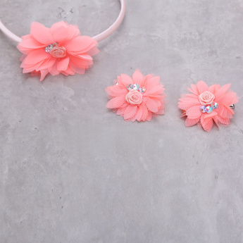 Bow Hairband and Clip Set