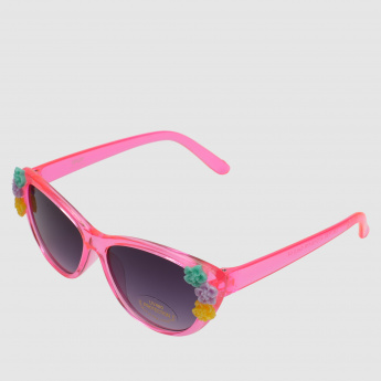 Flower Embellished Sunglasses