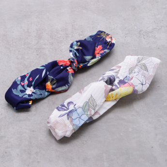 Floral Printed Hairband - Set of 2