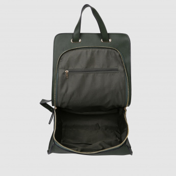 Zip Closure Backpack with Adjustable Straps