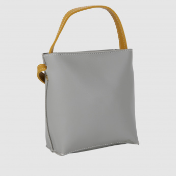 Textured Handbag with Handle