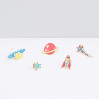 Assorted Space Badge - Set of 5