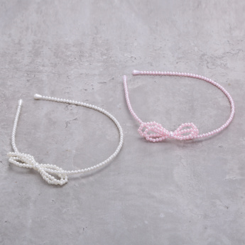 Pearl Detail Hairband - Set of 2
