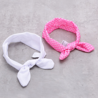 Elasticised Hairband with Knot - Set of 2