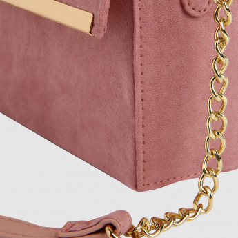 Metallic Detail Crossbody Bag
