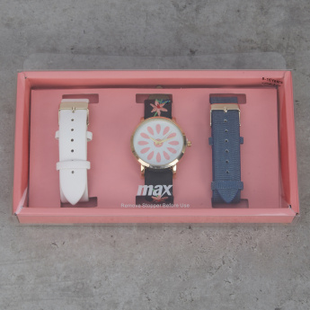 Assorted 3-Strap Wrist Watch Set