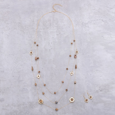 Multi Layer Necklace and Earrings Set