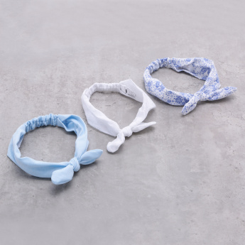 Elasticised Hairband with Knot - Set of 3