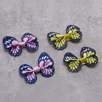 Butterfly Applique Hair Clip - Set of 4