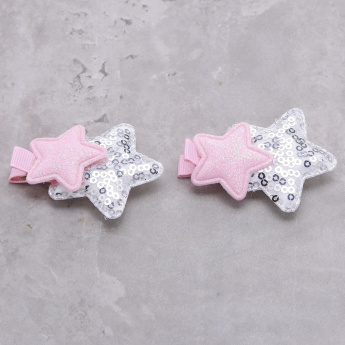Sequin Detail Hair Clip - Set of 2