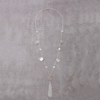 Charm Necklace with Tassels