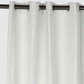 Textured 2-Piece Curtain Set with Tie Backs