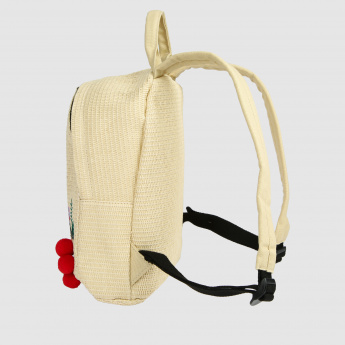 Embroidered Backpack with Dual Straps