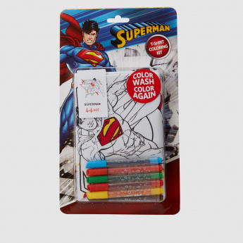 Superman T-Shirt Colouring Kit
