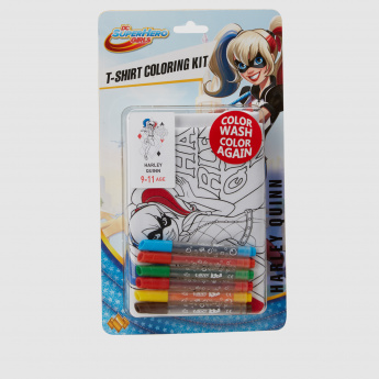 Harley Quinn T-Shirt Colouring Kit