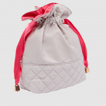 Quilted Pouch with Drawstring Closure