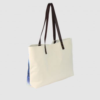 Printed Tote Bag with Magnetic Snap Closure