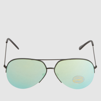 UV Aviator Sunglasses with Full Rim