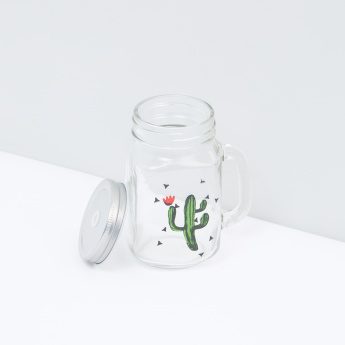 Printed Sipper Mason Jar