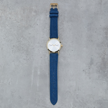 Denim Straps Wrist Watch with Face Dial