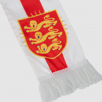 England Flag Printed Scarf with Fringes